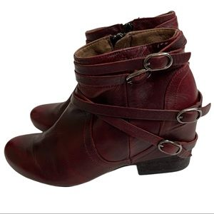 MIZ MOOZ MADE IN SPAIN  Burgundy Wine boots sz 6.5